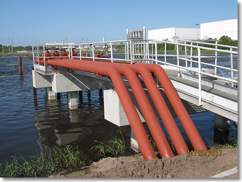 Industrial wastewater treatment plant in central Florida